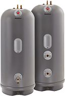 Picture of two Rheem Marathon thermal storage tank water heaters