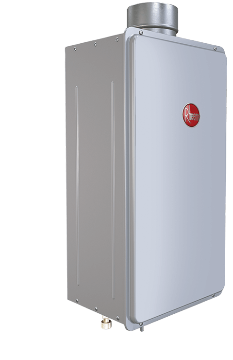 Rheem Tankless Water Heater Product Photo - Angled Left