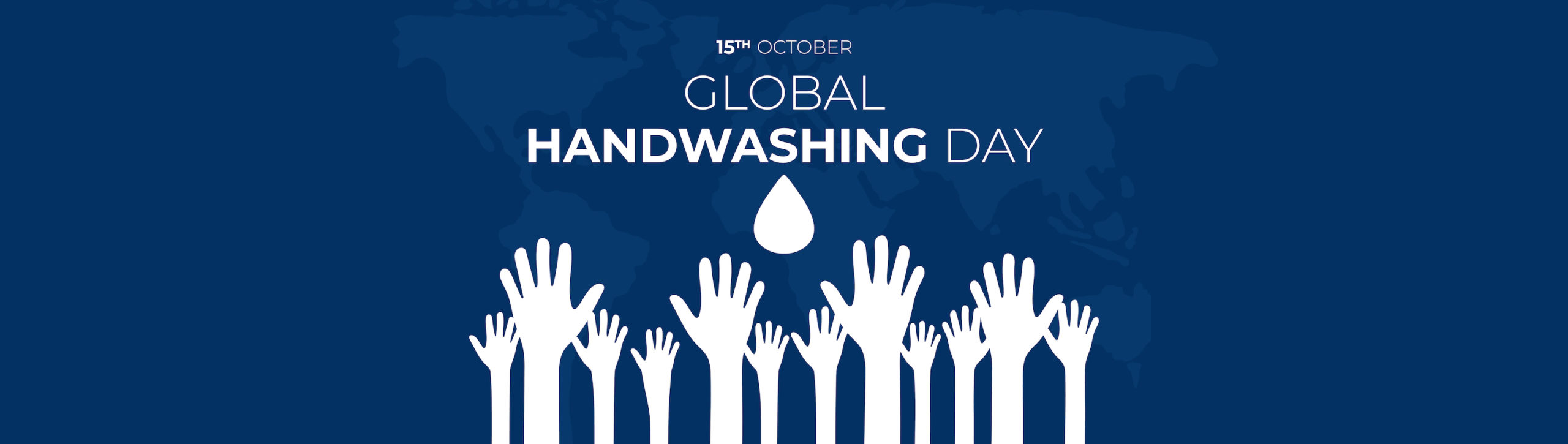 October 15th Global Handwashing Day Banner