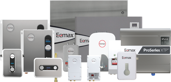 product breadth portfolio of Eemax water heaters