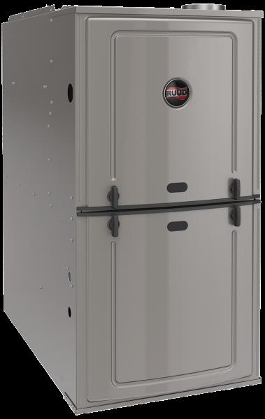 Ruud Achiever Plus Series Ultra Low NOx 80% AFUE R801T Upflow/Horizontal Gas Furnace