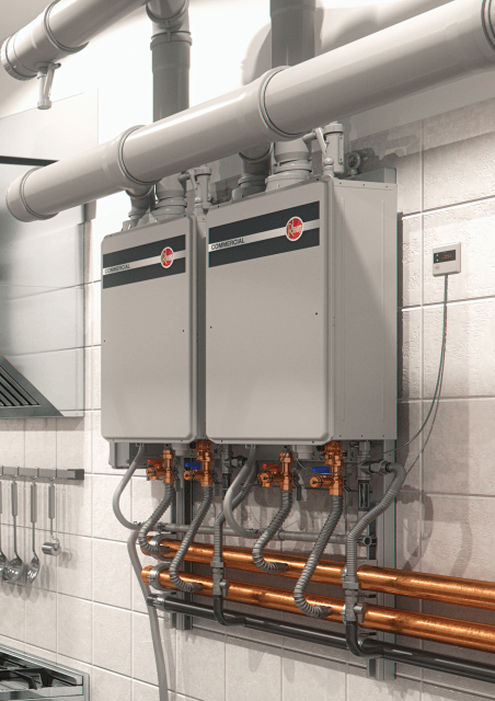 Commercial Tankless System – Wall Hanging